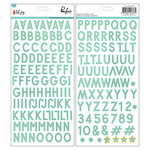 Pinkfresh Studio - Oh Joy Collection - Christmas - Chipboard Stickers with Foil Accents - Alphabet