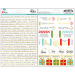 Pinkfresh Studio - Oh Joy Collection - Christmas - Cardstock Stickers with Foil Accents - Phrases