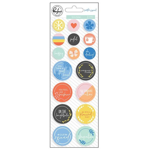 Pinkfresh Studio - Simple and Sweet Collection - Epoxy Stickers