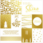 Pinkfresh Studio - Oh Joy Collection - Christmas - Transparency Cut Apart Sheet - Gold