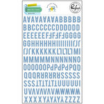 Pinkfresh Studio - Office Hours Collection - Mini Puffy Alpha Stickers - Blue