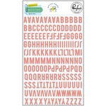 Pinkfresh Studio - Office Hours Collection - Mini Puffy Alpha Stickers - Coral