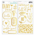 Pinkfresh Studio - Simple and Sweet Collection - Puffy Stickers - Accents - Golden