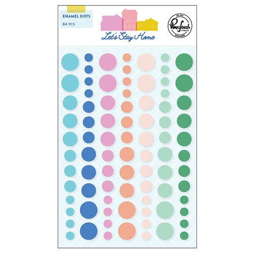 Pinkfresh Studio - Let's Stay Home Collection - Self Adhesive Enamel Dots
