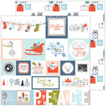 Pinkfresh Studio - December Days Collection - Christmas - 12 x 12 Double Sided Paper - Tis the Season
