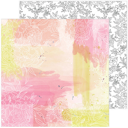 Pinkfresh Studio - Just A Little Lovely Collection - 12 x 12 Double Sided Paper - One Fine Day