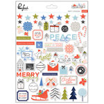Pinkfresh Studio - December Days Collection - Christmas - Puffy Stickers
