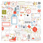 Pinkfresh Studio - December Days Collection - Christmas - Die Cut Cardstock Pieces with Foil Accents