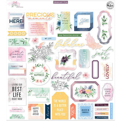Pinkfresh Studio - Just A Little Lovely Collection - Ephemera Pack