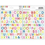 Pinkfresh Studio - The Mix No 1 Collection - Vellum Stickers - Alpha