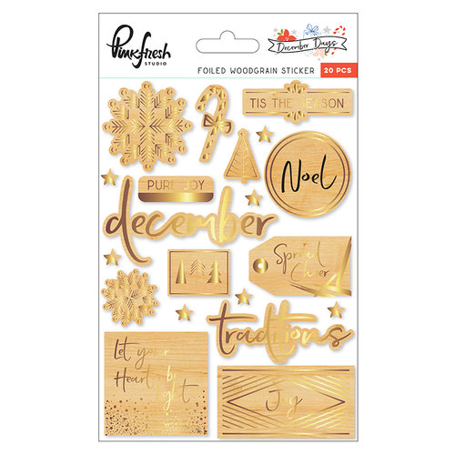 Pinkfresh Studio - December Days Wood Stickers