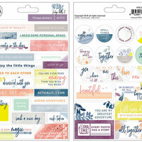 Pinkfresh Studio - Indigo Hills 2 Collection - Cardstock Stickers - Phrases