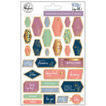 Pinkfresh Studio - Indigo Hills 2 Collection - Wood Stickers with Foil Accents