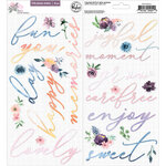 Pinkfresh Studio - Just A Little Lovely Collection - Puffy Phrase Stickers