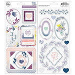 Pinkfresh Studio - Indigo Hills 2 Collection - Chipboard Stickers