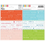Pinkfresh Studio - The Mix No 1 Collection - Cardstock Stickers - Phrases