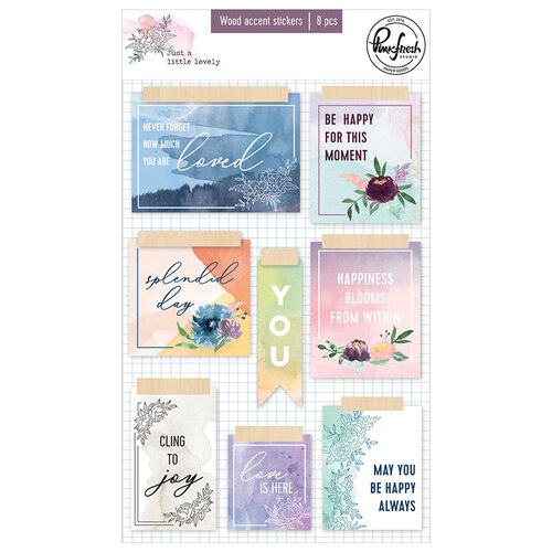 Pinkfresh Studio - Just A Little Lovely Collection - Wood Accent Stickers