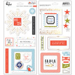 Pinkfresh Studio - December Days Collection - Christmas - Chipboard Frames with Foil Accents