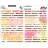 Pinkfresh Studio - Just A Little Lovely Collection - Phrase Cardstock Stickers