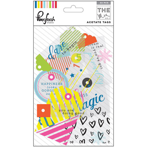 Pinkfresh Studio - The Mix No 1 Collection - Acetate Tags