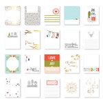Pinkfresh Studio - December Days Collection - Christmas - 3 x 4 Journaling Cards with Foil Accents
