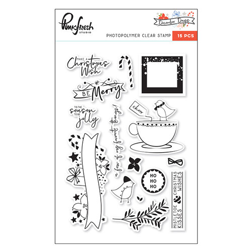 Pinkfresh Studio - December Days Collection - Christmas - Clear Acrylic Stamps