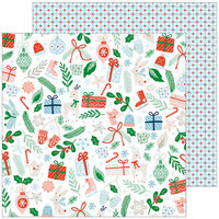 Pinkfresh Studio - Holiday Vibes Collection - Christmas - 12 x 12 Double Sided Paper - Christmas Cheer