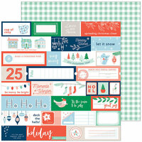 Pinkfresh Studio - Holiday Vibes Collection - Christmas - 12 x 12 Double Sided Paper - Very Merry