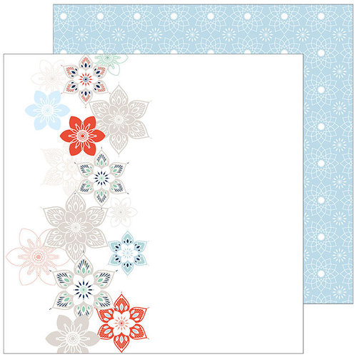 Pinkfresh Studio - Holiday Vibes Collection - Christmas - 12 x 12 Double Sided Paper - Let it Snow