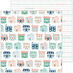 Pinkfresh Studio - Holiday Vibes Collection - Christmas - 12 x 12 Double Sided Paper - Home for the Holidays