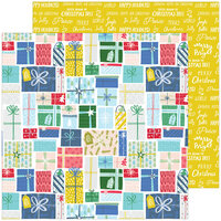 Pinkfresh Studio - Christmas - Home for the Holidays Collection - 12 x 12 Double Sided Paper - Holiday Gifts