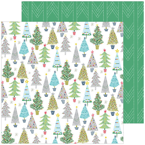 Pinkfresh Studio - Christmas - Home for the Holidays Collection - 12 x 12 Double Sided Paper - Merry and Bright