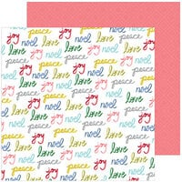 Pinkfresh Studio - Christmas - Home for the Holidays Collection - 12 x 12 Double Sided Paper - Peace and Love
