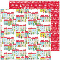 Pinkfresh Studio - Christmas - Home for the Holidays Collection - 12 x 12 Double Sided Paper - Home for the Holidays