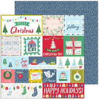 Pinkfresh Studio - Christmas - Home for the Holidays Collection - 12 x 12 Double Sided Paper - Happy Holidays