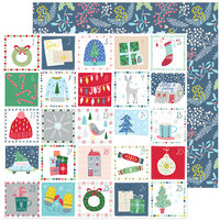 Pinkfresh Studio - Christmas - Home for the Holidays Collection - 12 x 12 Double Sided Paper - Advent Love