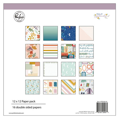 Pinkfresh Studio - Days of Splendor Collection - 12 x 12 Collection Paper Pack