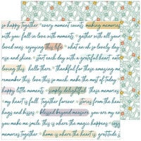 Pinkfresh Studio - Days of Splendor Collection - 12 x 12 Double Sided Paper - Grateful Heart
