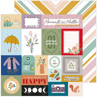 Pinkfresh Studio - Days of Splendor Collection - 12 x 12 Double Sided Paper - Moments That Matter
