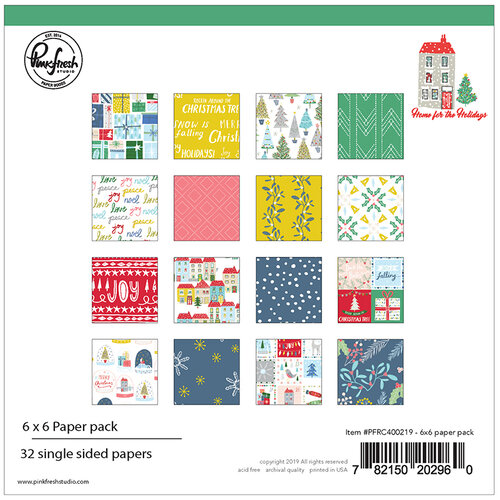 Pinkfresh Studio Home For the Holidays 6x6 Paper Pack