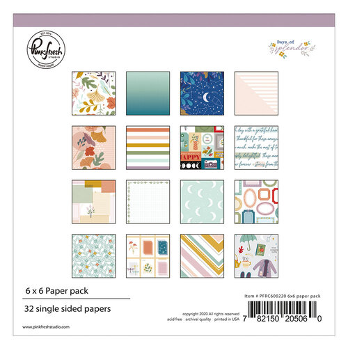 Pinkfresh Studio - Days of Splendor Collection - 6 x 6 Collection Paper Pack