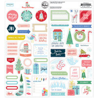 Pinkfresh Studio - Christmas - Home for the Holidays Collection - Cardstock Stickers