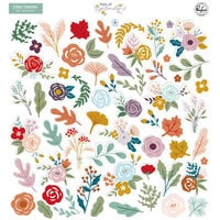 Pinkfresh Studio - Days of Splendor Collection - Floral Ephemera Pack