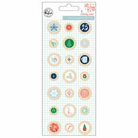 Pinkfresh Studio - Holiday Vibes Collection - Christmas - Wood Epoxy Buttons