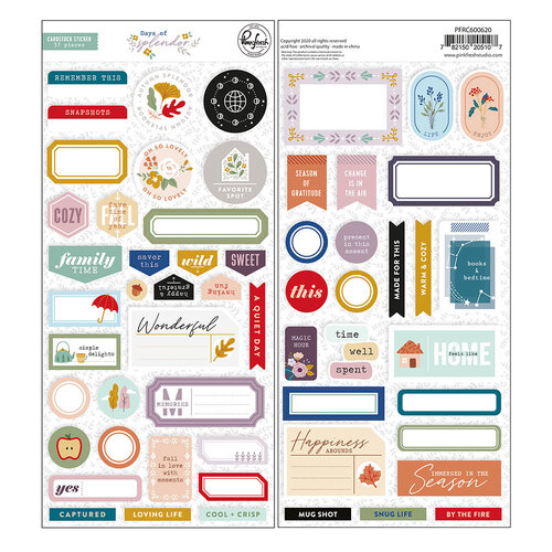Pinkfresh Studio - Days of Splendor Collection - Cardstock Stickers