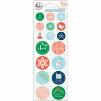 Pinkfresh Studio - Holiday Vibes Collection - Christmas - Epoxy Stickers