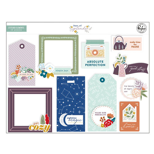 Pinkfresh Studio - Days of Splendor Collection - Stitched Elements