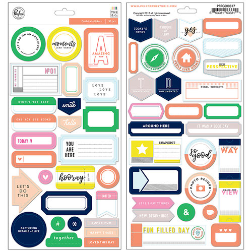 Pinkfresh Studio - The Mix No 2 Collection - Cardstock Stickers