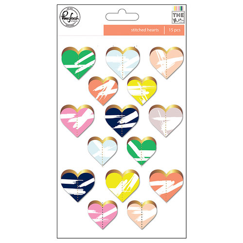 Pinkfresh Studio - The Mix No 2 Collection - Stitched Hearts