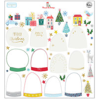 Pinkfresh Studio - Christmas - Home for the Holidays Collection - Snow Globe Elements with Foil Accents